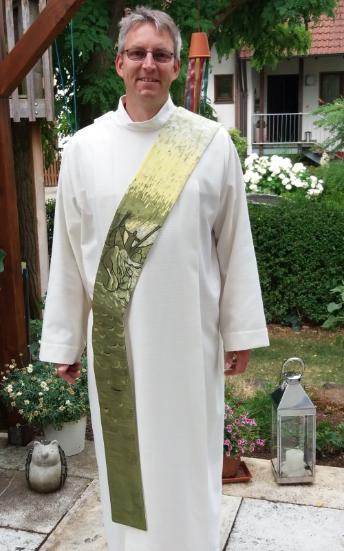 "Stola ""Jesus rettet Petrus"" Vorderansicht"