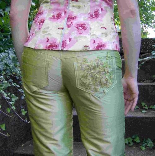 Seidenhose im Jeansstil